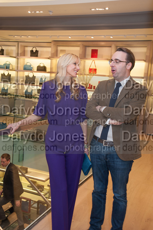 CALGARY AVANSINO; BERTIE DE ROUGEMONT, Smythson Sloane St. Store opening. London. 6 February 2012.