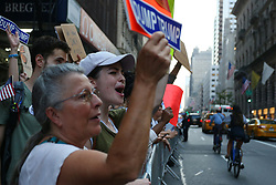 September 4, 2017 - New York City, New York, USA - DACA protest participants are seen near Trump Tower on September 5, 2017 in New York City. (Credit Image: © Anna Sergeeva via ZUMA Wire)