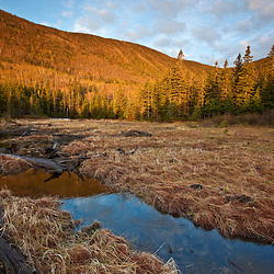 Morning at Caribou Pond in Crocker Cirque at the base of Crocker Mountain in Stratton, Maine.  Near the Appalachian Trail.