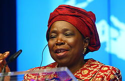 BRUSSELS, April 3, 2014  Chairperson of African Union Commission Nkosazana Clarice Dlamini Zuma attends a press conference in EU headquarters, Brussels, Belgium, on April 3, 2014. The two-day-long 4th EU-Africa summit concluded here on Wednesday. (Credit Image: © Gong Bing/Xinhua/ZUMAPRESS.com)