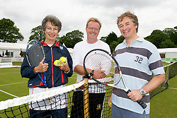 LIVERPOOL, ENGLAND - Friday, June 17, 2011: Virginia Wade during a ProAm day two of the Liverpool International Tennis Tournament at Calderstones Park. (Pic by David Rawcliffe/Propaganda)