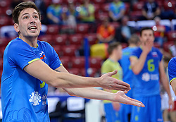 Dejan Vincic during volleyball match between National teams of Netherlands and Slovenia in Playoff of 2015 CEV Volleyball European Championship - Men, on October 13, 2015 in Arena Armeec, Sofia, Bulgaria. Photo by Ronald Hoogendoorn / Sportida
