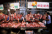 Qing Ping market, Guangzhou, China. The sign for that stall says it sells pork. (Supporting image from the project Hungry Planet: What the World Eats.)