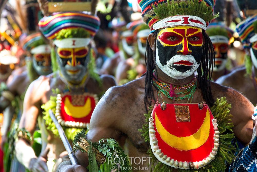 Male performers, Morobe Singsing dance festival, Papua New Guinea