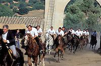 """Festival of """"Ardia di Sedilo"""", Ardia town, Oristano Province, Sardinia, Italy"""