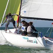 Finale de championnat de match race feminin à La Rochelle