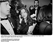 Juliet Hohnen working in the Press pen for M.T.V. at  at  Swifty Lazar's last Oscar Night  Party. Spago's. Los Angeles. March 1993. Film. 93242/5<br /><br />© Copyright Photograph by Dafydd Jones<br />66 Stockwell Park Rd. London SW9 0DA<br />Tel 0171 733 0108