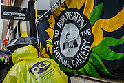 "Striking workers at the National gallery are campaigning against its privatisation and calling for the reinstatement of our rep and negotiator Candy Udwin who was suspended on the eve of the strike. They then marched to the Getty Images Gallery (pictured) to deliver a letter for Mark Getty, chair of the Gallery trustees. This is the second 5 day strike and picket lines are outside the gallery between 9am and 11am every morning. Channel 4 News presenter Jon Snow tweeted his support at the weekend, saying: ""As a former trustee, I'm shocked that our key duty: safeguarding the art is to be done by private contractors."" During the first strike week a 40,000-name petition was handed to the Department for Culture, Media and Sport. And this time almost 9,000 have now signed an online statement. The strike is supportd by the TUC and the PCS union."