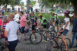 Rachele Barbieri (ITA) of Cylance Pro Cycling  rides in the crowd after finishing the 117,5 km third stage of the 2016 Ladies' Tour of Norway women's road cycling race on August 13, 2016 between Svinesund, Sweden and Halden, Norway. (Photo by Balint Hamvas/Velofocus)