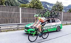 11.07.2019, Kitzbühel, AUT, Ö-Tour, Österreich Radrundfahrt, 5. Etappe, von Bruck an der Glocknerstraße nach Kitzbühel (161,9 km), im Bild Jonas Rapp (Hrinkow Advarics Cycleang, GER) // Jonas Rapp (Hrinkow Advarics Cycleang, GER) during 5th stage from Bruck an der Glocknerstraße to Kitzbühel (161,9 km) of the 2019 Tour of Austria. Kitzbühel, Austria on 2019/07/11. EXPA Pictures © 2019, PhotoCredit: EXPA/ JFK