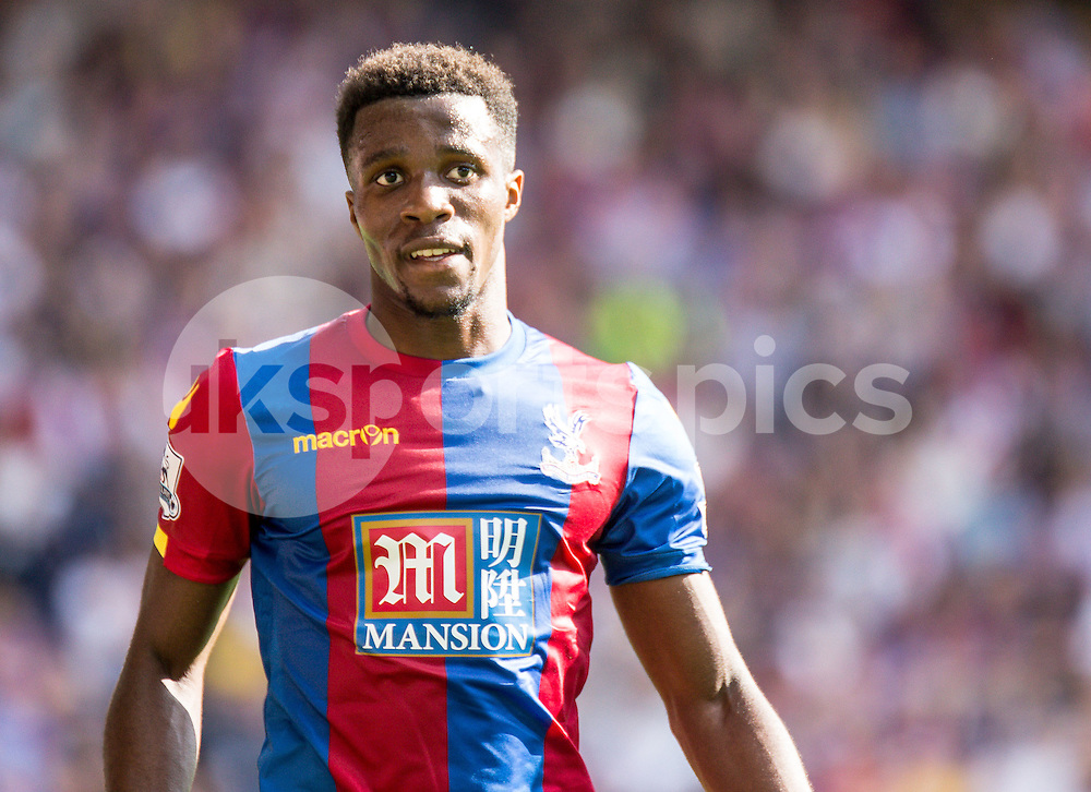 WILFRIED ZAHA asked Crystal Palace to leave.<br /> <br /> Wilfried Zaha of Crystal Palace during the Barclays Premier League match between Crystal Palace and Manchester City at Selhurst Park, London, England on 12 September 2015. Photo by Liam McAvoy.