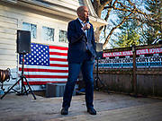 07 JANUARY 2020 - DES MOINES, IOWA: US Senator CORY BOOKER speaks at a house party in Des Moines. About 75 people showed up and the event was moved outside because there were too many people to fit in the house. Sen. Booker is campaigning in Iowa to support his candidacy for the US Presidency. He cut his campaign schedule short Tuesday so he could return to Washington DC for briefings about the Iran situation. Iowa traditionally holds the first event of the presidential election cycle. The Iowa caucuses are Feb. 3, 2020.        PHOTO BY JACK KURTZ