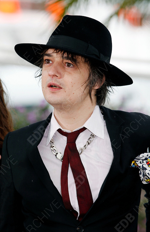20.MAY.2012. CANNES<br /> <br /> PETE DOHERTY ATTENDS THE &quot;CONFESSION OF A CHILD OF THE CENTURY&quot; PHOTOCALL AT THE 2012 CANNES FILM FESTIVAL.<br /> <br /> BYLINE: EDBIMAGEARCHIVE.CO.UK<br /> <br /> *THIS IMAGE IS STRICTLY FOR UK NEWSPAPERS AND MAGAZINES ONLY*<br /> *FOR WORLD WIDE SALES AND WEB USE PLEASE CONTACT EDBIMAGEARCHIVE - 0208 954 5968*