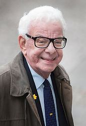 © Licensed to London News Pictures. 27/09/2016.  Barry Cryer arrives for a Service of Thanksgiving for the Life and Work of Sir Terry Wogan at Westminster Abbey. Veteran broadcaster Sir Terry Wogan died in January 2016. The Irish star had a long and successful career at the BBC, including stints on  radio and TV. London, UK. Photo credit: Peter Macdiarmid/LNP