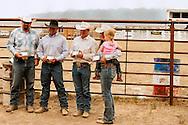 Wilsall Ranch Rodeo, Winning team, Inlaws and Outlaws, Garrett Hamm, Jaime Wood, Tyler Serrazin, Jessie Serrazin, Wilsall, Montana
