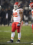 Kansas City Chiefs nose tackle Dontari Poe (92) looks on during the NFL week 12 regular season football game against the Oakland Raiders on Thursday, Nov. 20, 2014 in Oakland, Calif. The Raiders won their first game of the season 24-20. ©Paul Anthony Spinelli
