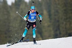 Enora Latuilliere (FRA) during Women 15km Individual at day 5 of IBU Biathlon World Cup 2018/19 Pokljuka, on December 6, 2018 in Rudno polje, Pokljuka, Pokljuka, Slovenia. Photo by Ziga Zupan / Sportida
