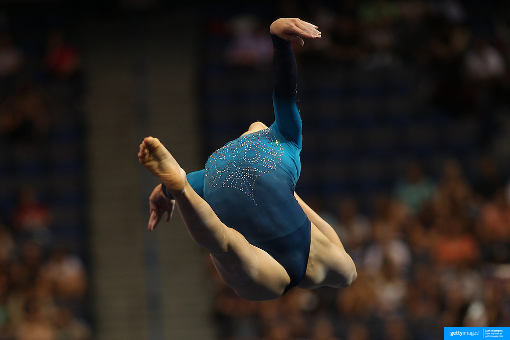 Madison Desch, Lenexa, Kansas, in action during Floor Exercise the Senior Women Competition at The 2013 P&G Gymnastics Championships, USA Gymnastics' National Championships at the XL, Centre, Hartford, Connecticut, USA. 15th August 2013. Photo Tim Clayton