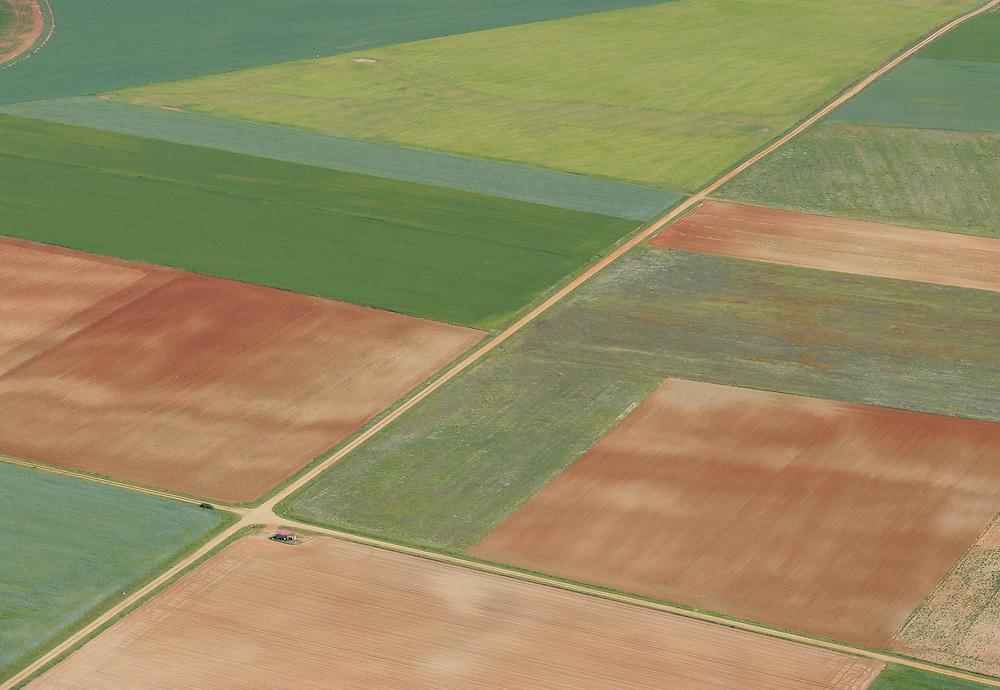 Aerial image.farm land,  Salamanca Region, Castilla y León, Spain