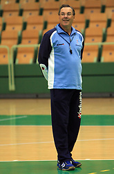 Head coach Miro Pozun at practice of Slovenian handball men national team before going to Israel, on October 27, 2008 in Lasko, Slovenia. (Photo by Vid Ponikvar / Sportal Images)