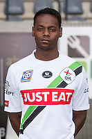 OHL's Jordy Mboyo Lokando pictured during the 2015-2016 season photo shoot of Belgian first league soccer team OH Leuven, Monday 13 July 2015 in Leuven.