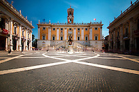ROME, ITALY - JUNE 03: Illustration of Rome; Italy on June 03, 2012..Capitoline Hill. Rome City Town Hall