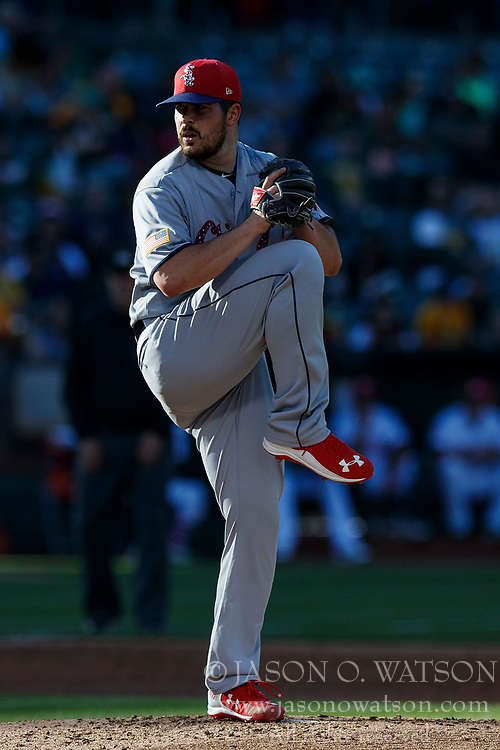 OAKLAND, CA - JULY 03:  Carlos Rodon #55 of the Chicago White Sox pitches against the Oakland Athletics during the second inning at the Oakland Coliseum on July 3, 2017 in Oakland, California. The Chicago White Sox defeated the Oakland Athletics 7-2. (Photo by Jason O. Watson/Getty Images) *** Local Caption *** Carlos Rodon