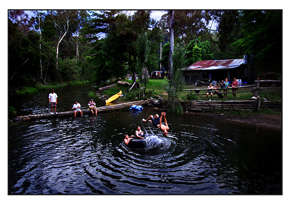 SPECIAL 00004601 csz000109.001.001.jpg..Digicam 00004601..Victoria in the holiday season..Holiday makers at a hut somewhere on the Howqua River..picture by CRAIG SILLITOE melbourne photographers, commercial photographers, industrial photographers, corporate photographer, architectural photographers, This photograph can be used for non commercial uses with attribution. Credit: Craig Sillitoe Photography / http://www.csillitoe.com<br />
