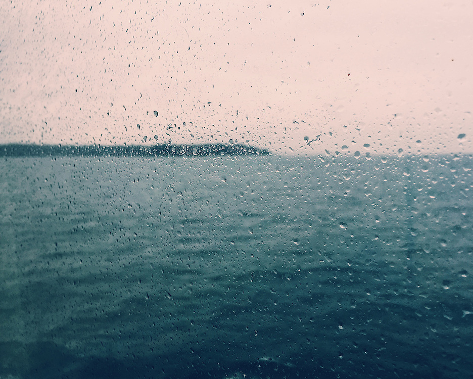 Rainy windows on the ferry between Seattle and Bainbridge Island, Washington. Taken with an iPhone