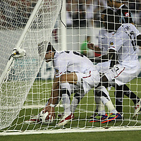 USA defender Clarence Goodson (21) retrieves the ball from the net after scoring a U.S. goal during the second half of a CONCACAF Gold Cup soccer match between the United States and Panama on Saturday, June 11, 2011, at Raymond James Stadium in Tampa, Fla. (AP Photo/Alex Menendez)