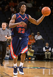 Liberty guard Brolin Floyd (23) in action against UVA.  The Virginia Cavaliers fell to the Liberty Flames 86-82 in NCAA Division 1 men's basketball at the University of Virginia's John Paul Jones Arena  in Charlottesville, VA on March 9, 2008.