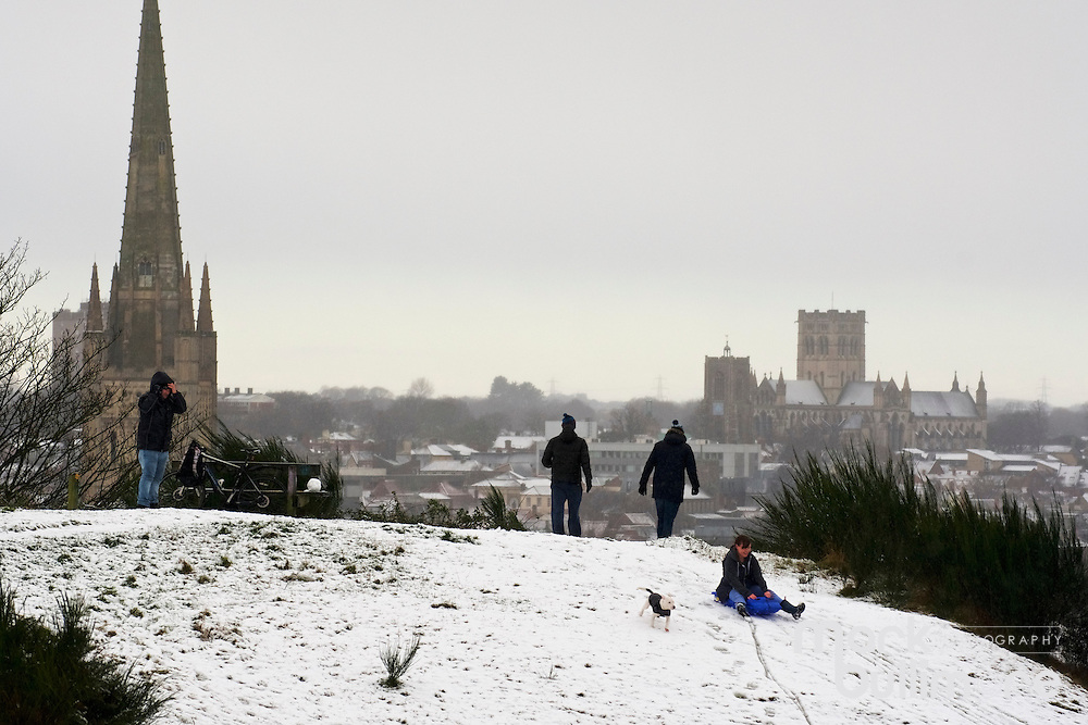 Norwich, Norfolk. Snow covers the City of Norwich over looking Kett's Hill. <br /> <br /> Picture: MARK BULLIMORE