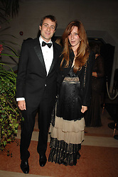 BEN & KATE GOLDSMITH at The Diner Des Tsars in aid of Unicef to celebrate the launch of Quintessentially Wine held at the Guildhall, London EC2 on 29th March 2007.<br />