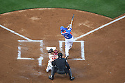 LOS ANGELES, CA - MARCH 21: Right fielder Shin Soo Choo #5 of Korea hits a three run base clearing homer that gives his team a 5-0 first inning lead over Venezuela during game one of the semifinal round of the 2009 World Baseball Classic at Dodger Stadium in Los Angeles, California on Saturday March 21, 2009. Korea defeated Venezuela 10-2. (Photo by Paul Spinelli/WBCI/MLB Photos) *** Local Caption *** Shin Soo Choo