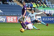 Coventry City forward Jacob Murphy on loan from Norwich City  goes close during the Sky Bet League 1 match between Coventry City and Port Vale at the Ricoh Arena, Coventry, England on 26 December 2015. Photo by Simon Davies.