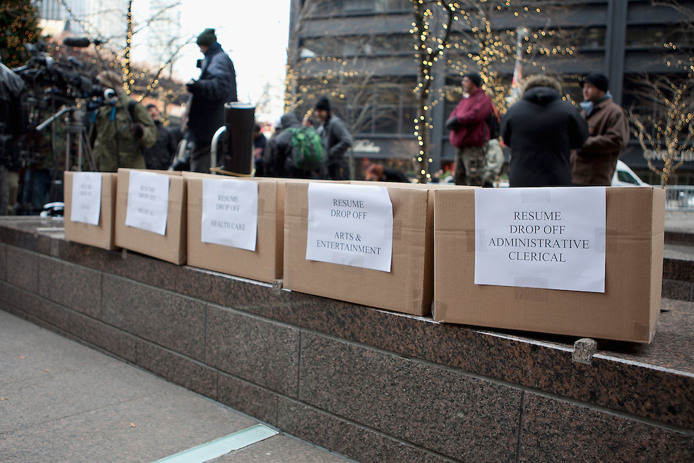 "New York, NY: ""Occupy A Desk"" in Zuccotti Park"