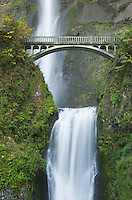 Multnomah Falls, one of the most well known scenic attractions in Oregon and the Pacific Northwest, Columbia River Gorge National Scenic Area Oregon