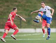 Martin Andersen (HIK) under kampen i 2. Division mellem HIK og FC Helsingør den 30. august 2019 i Gentofte Sportspark (Foto: Claus Birch).