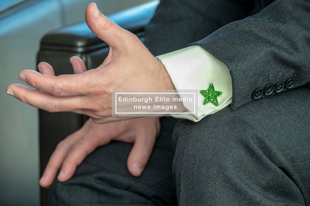 Pictured: Patrick Harvie wears his heart on his sleeve as he reaches for influence in Europe<br /><br />The Scottish Greens unveiled their list of candidates for the forthcoming EU election in Edinburgh today.<br /><br />The party's Co-Convenor Patrick Harvie MSP introduced the lead candidate, Maggie Chapman, and announced the full list at the Welcoming Association's HQ.  Mr Harvie and Ms Chapman took the opportunity to meet with EU citizens who are new to Edinburgh and learning English at the centre.<br /><br />The full list is as follows:<br />1.    Maggie Chapman<br />2.    Lorna Slater<br />3.    Gillian Mackay<br />4.    Chas Booth<br />5.    Mags Hall<br />6.    Allan Faulds<br /><br />Ger Harley | EEm 25 April 2019