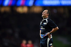 Referee Jaco Peyper watches a TMO replay on the big screen - Mandatory byline: Patrick Khachfe/JMP - 07966 386802 - 18/09/2015 - RUGBY UNION - Twickenham Stadium - London, England - England v Fiji - Rugby World Cup 2015 Pool A.