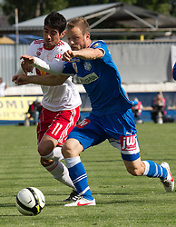 13.12.2012, Stadion, Wiener Neustadt, AUT, 1. FBL, SC Wiener Neustadt vs RB Salzburg, im Bild Gonzalo Zarate, (Red Bull Salzburg, #11) Bernd Besenlehner, (SC Magna Wiener Neustadt, #30) // during the Austrian Bundesliga Match, SC Wiener Neustadt against RB Salzburg, Stadium, Wiener Neustadt near Vienna, Austria on 2012-05-13, EXPA Pictures © 2012, PhotoCredit: EXPA/ S. Woldron