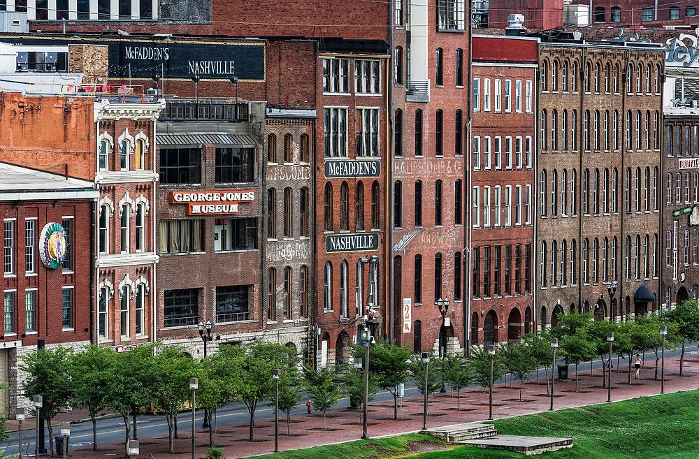 Historic buildings along First Avenue, Nashville, Tennassee, USA.