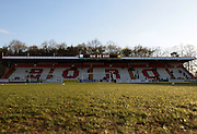 Away end at The Lamex Stadium before the Sky Bet League 2 match between Stevenage and Bristol Rovers at the Lamex Stadium, Stevenage, England on 19 April 2016. Photo by Nigel Cole.