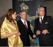 Mr. and Mrs. Dirk Burghardt, Prof. Dr. Martin Roth. The opening of ' Princely Spendour: The Dresden Court 1580-1620' The Gilbert Collection, Somerset House. London. 8 June 2005. ONE TIME USE ONLY - DO NOT ARCHIVE  © Copyright Photograph by Dafydd Jones 66 Stockwell Park Rd. London SW9 0DA Tel 020 7733 0108 www.dafjones.com