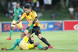 24042018 (Durban) Player Leornado Castro tackles a player during a Kaizer Chiefs looking to bounce back to winning ways when taking on Golden Arrows in an Absa Premiership match at the Princess Magogo Stadium on Tuesday night (24.02.2018)Picture: Motshwari Mofokeng/ANA