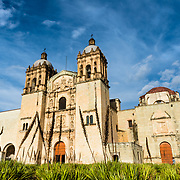 Facade of Church of Santo Domingo de Guzmán in Oaxaca, Mexico