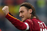 Roma 22/2/2004 <br />Roma Siena 6-0 <br />Francesco Totti (Roma) celebrate his goal (6-0 for Roma)<br />Photo Andrea Staccioli Graffiti