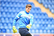 Hartlepool goalkeeper Joe Fryer warms up during the EFL Sky Bet League 2 match between Colchester United and Hartlepool United at the Weston Homes Community Stadium, Colchester, England on 25 February 2017. Photo by Ian  Muir.