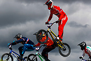BMX Finals, Tore Navrestad (Norway) during the Cycling European Championships Glasgow 2018, at Glasgow BMX Centre, in Glasgow, Great Britain, Day 9, on August 10, 2018 - Photo luca Bettini / BettiniPhoto / ProSportsImages / DPPI<br /> - Restriction / Netherlands out, Belgium out, Spain out, Italy out -