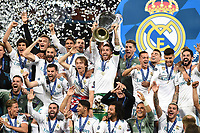 Real Madrid Celebration<br /> Kiev 26-05-2018 Kiev Olympic Stadium <br /> Football Champions League 2017/2018 Final Real Madrid - Liverpool Foto Matteo Gribaudi/Image Sport/Insidefoto